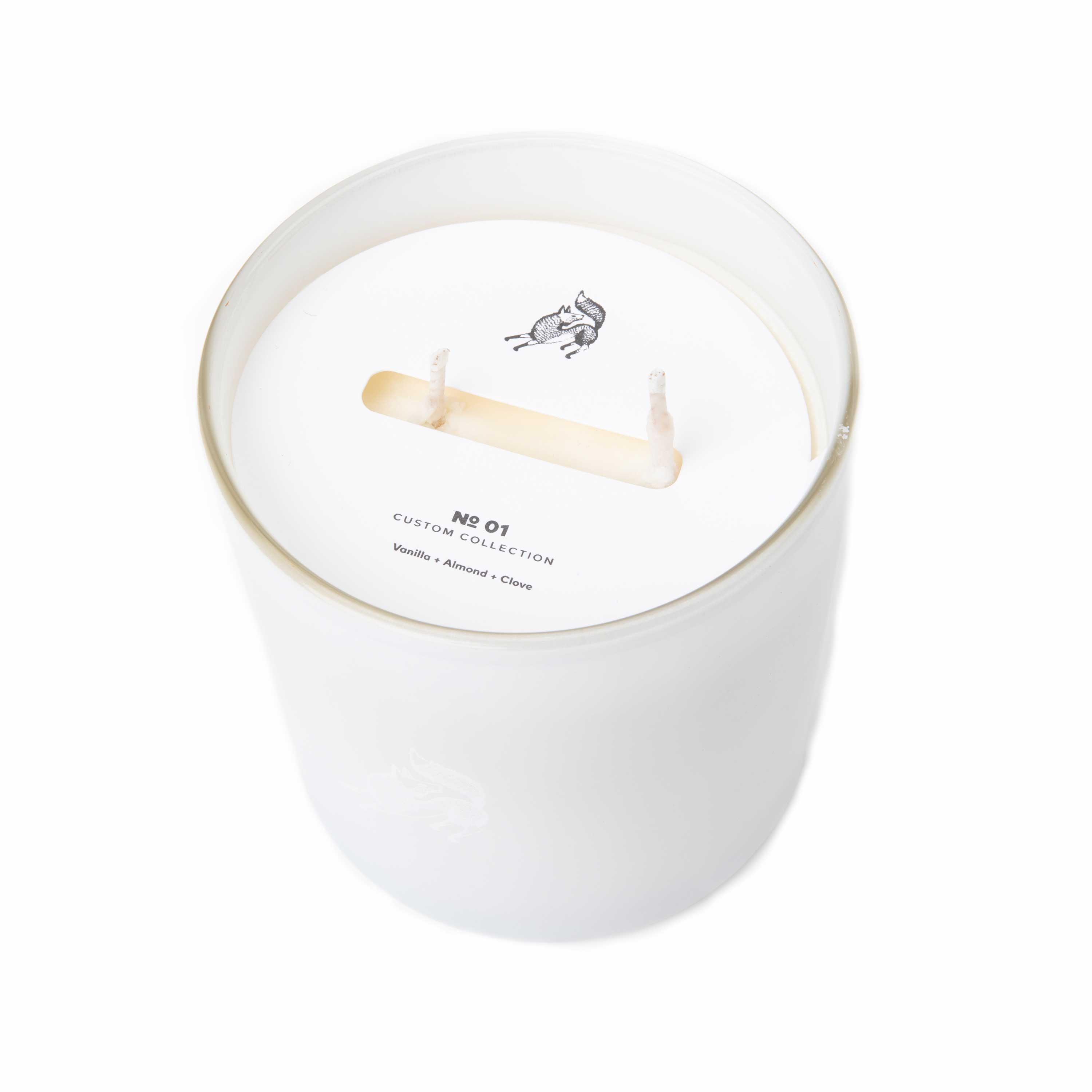 14oz Custom Candle White Dust Cover